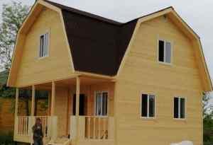 проект деревянного дома 6*8 м